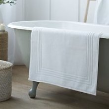 Egyptian Bath Mat, White, Medium