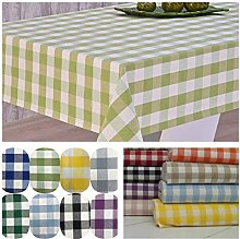 Egyptian Cotton Gingham Table Cloths (Lime, Round