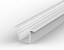 EH1 White Painted 1m recessed LED Aluminium