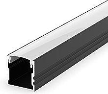EH2 Black Painted 1m LED Aluminium high U-Profile