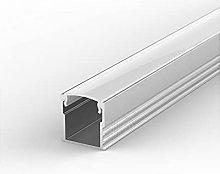 EH2 Silver Anodized 1m LED Aluminium high