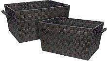 EHC 2 x Large Rectangular Woven Strap Storage