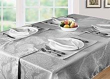 EHC Damask Pack of 6 Napkins Table Serviettes