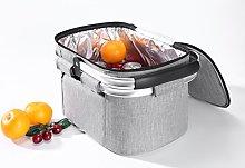 EHC Folding Insulated Picnic Shopping Bag Basket