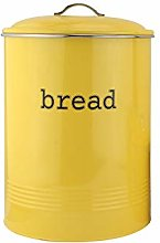 EHC Round Enamel Bread Bin Crock Storage Canister