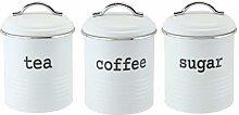 EHC Set of 3 Airtight Tea Sugar and Coffee Storage