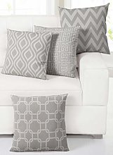 EHC Set of 4 Decorative Cotton Sofa Pillow Case