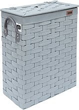 Ehc Slimline Laundry Linen Basket Bin Bathroom