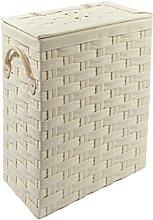 Ehc Slimline Laundry Linen Basket Bin Bathroom