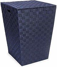 EHC Woven Pattern Laundry Storage Hamper Basket