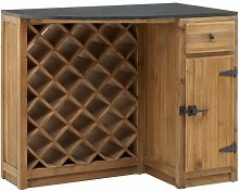 Eichhorn Bar with Wine Storage Union Rustic