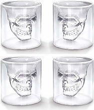 Eidoct Crystal Skull Shot Glasses Double Wall