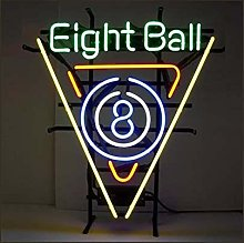 EIGHT BALL Real Glass Neon Light Sign Home Beer