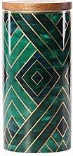 Eight Horses-S Ceramic Spice Jar, Striped shape,