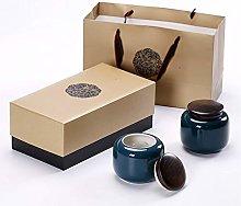 Eight Horses-S Tea Tank,Spice Jar, Sugar Bowl with