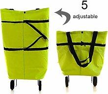 Eihan 2-in-1 Portable Foldable Shopping Cart