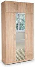 Eitan Quality Bedroom 3 Door Mirror Combi Tall Oak