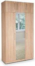 Eitan Quality Bedroom 3 Door Mirror Tall Oak