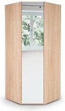 Eitan Quality Bedroom Corner Mirror Wardrobe -