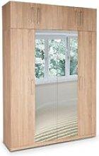 Eitan Quality Bedroom Double Mirror Tall Oak