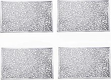 Eiyye Silver Placemats Table Mats Vinyl Placemats