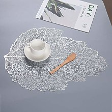 Eiyye Silver Table Placemats Vinyl Placemats