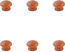 EKEK 6pcs Brown Series Lotus Round Handle,Cupboard