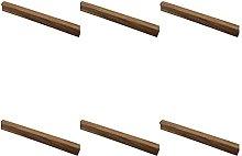 EKEK 6pcs Rosewood Drawer Cabinet Door