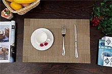 EKRPN Placemat Simple PVC Placemat Imitation Linen