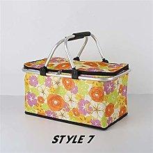 EKYJ Insulated picnic bag 47x27x24cm 30L Folding