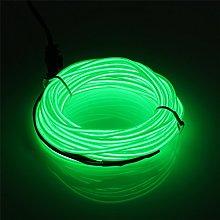 EL Wire 5m/16.4ft Battery Pack JIGUOOR Bright Neon