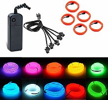 El Wire Neon Tube Lighting 3 Modes, Portable