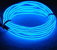 EL Wire Rope Lights Portable Battery Powered Wire