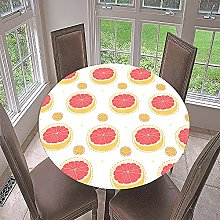Elastic Edged Round Tablecloth for Circular Table,