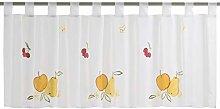 Elbersdrucke Bistro Curtain Fresh Fruit 02 Half