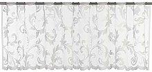 Elbersdrucke Bistro Curtain, Polyester, White, 45