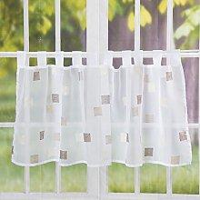 Elbersdrucke Quadro 06 Bistro Curtain Half