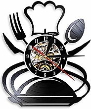 Eld 30cm Cutlery Wall Clock Spoon Fork Knife Vinyl