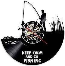Eld 30cm Keep Calm And Go Fishing Vinyl Record
