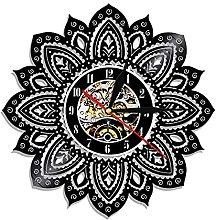 Eld 30cm Mandala Lotus Shape Wall Clock Flower