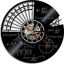 Eld 30cm Math Theme Vinyl Record Wall Clock