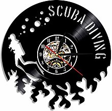 Eld 30cm Scuba Diving Led Vinyl Clock Gift For
