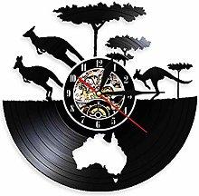 Eld 30cm Vintage Kangaroo Vinyl Record Wall Clock