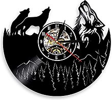 Eld 30cm Wolf Wall Clock Wild Animals For The