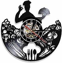 Eld Dia 30cm Chef Silhouette Kitchen Wall Clock