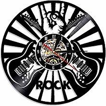 Eld Dia 30cm Guitar Rock Wall Clock Vinyl Record