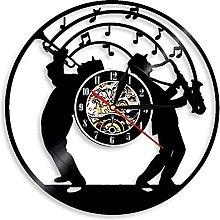 Eld Dia 30cm Jazz Music Wall Clock With Led Light