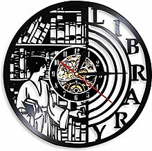 Eld Dia 30cm Quartz Wall Library Clock Vinyl
