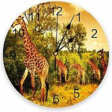 Eld Diameter 25cm Africa Giraffe Grassland Sunset