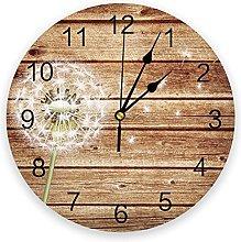 Eld Diameter 25cm Dandelion On The Wooden Board